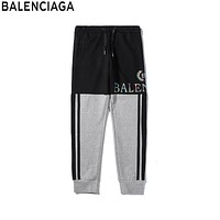 Balenciaga two-tone stitching ribbon print trousers 1#
