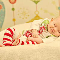 Baby Boy Christmas Tie Bodysuit or Shirt with Suspenders