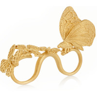 Valentino - Gold-plated three-finger butterfly ring