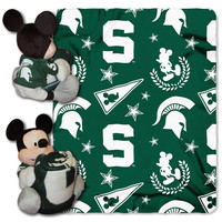 Michigan State Spartans NCAA Mickey Mouse with Throw Combo