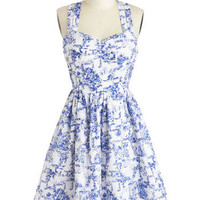 Give It Your Toile Dress | Mod Retro Vintage Dresses | ModCloth.com