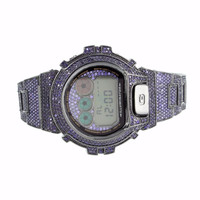 Amethyst Purple G Shock DW6900 Mens Digital Iced Metal Band