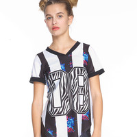 Girls Zebra Jersey