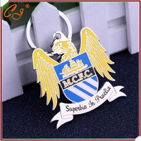 Free shipping Manchester City Football Club football team keychain slogan Superbia in Proelio sign keyring