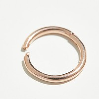 6.5mm Solid Gold Clicker Hoops