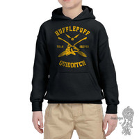 KEEPER - Hufflepuff Quidditch team Keeper printed on YOUTH / KIDS Hoodie