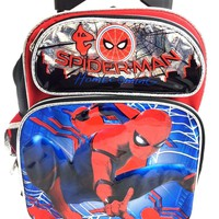 "2017 Marvel Spiderman "" HOMECOMING"" 12"" Small Toddler "" Rolling/Roller Backpack"