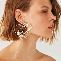 Etched Tattoo Statement Hoop Earring | Urban Outfitters