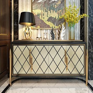 Light Luxurious American-Style Buffet Table