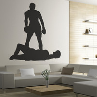 Vinyl Wall Decal Sticker Boxing Down for the Count #OS_MB557