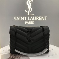 ysl women leather shoulder bags satchel tote bag handbag shopping leather tote crossbody 156