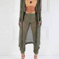 Seaside Mesh Khaki Beach Pant