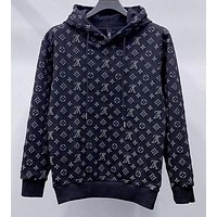 Louis Vuitton new autumn and winter new style starry thick hooded sweater men and women with the same slim and versatile jacket