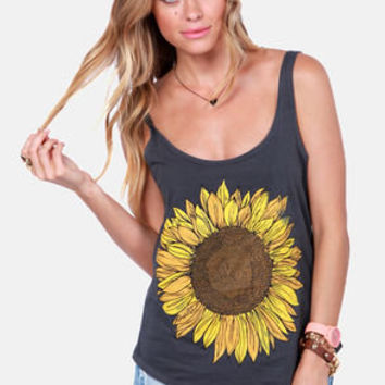 O'Neill Trippin Grey Sunflower Tank Top