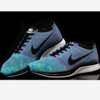 NIKE Women Men Running Sport Casual Suspension movement Shoes Sneakers Blue-purple
