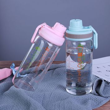 Handy Cup, Sports Water Cup, Transparent, Graduated Cup, Cartoon Simple Japanese Heat-Resistant Glass, One Box