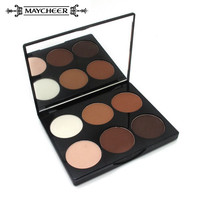 2016 Hot Makeup Brand 6 Colors Women Face Pressed Powder Foundation Grooming Highlight Contour Shadow Powder Palette Cosmetics