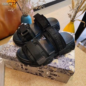 DIOR Embroidered sports daddy sandals slippers