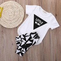 2pcs Newborn Baby Boy Clothes Onsie + Pants Outfit