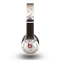 The Subtle Tan Elegant Black Design Skin for the Beats by Dre Original Solo-Solo HD Headphones