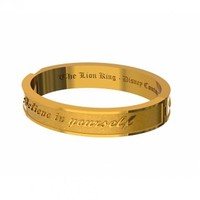 Gold Plated Yellow Enamel Believe In Yourself Lion King Bangle From Disney Couture : TruffleShuffle.com