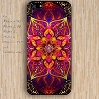 iPhone 5s 6 case mandala fire colorful phone case iphone case,ipod case,samsung galaxy case available plastic rubber case waterproof B328