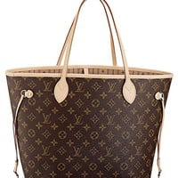 Louis Vuitton Neverfull MM Monogram Canvas Handbag Shoulder Bag Tote Purse