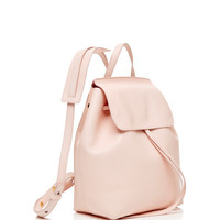 Mini Coated Leather Backpack In Rosa With Rosa Interior by Mansur Gavriel - Moda Operandi