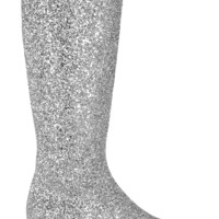Saint Laurent - Glitter-finished leather knee boots