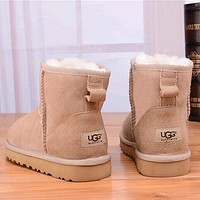 UGG Women Fashion Leather Snow Boots Shoes