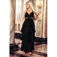 Know Me Better Tiered Maxi Dress (Black)
