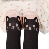 AM Landen® Japanese Style Sexy Mock CAT with Tail TIGHTS Pantyhose High Quality(CAT)