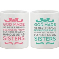 Cute Coffee Mugs for Best Friends - God Made Us Best Friends - BFF gift and accessories