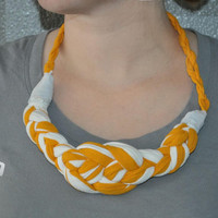 Celtic knot braided t-shirt necklace