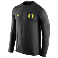 Men's Nike Heather Green Oregon Ducks Dri-FIT Touch Performance Long Sleeve T-Shirt