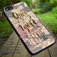 Vintage Flower Once Upon a Time iPhone 6s 6 6s+ 5c 5s Cases Samsung Galaxy s5 s6 Edge+ NOTE 5 4 3 #movie #disney #animated #onceuponatime dt