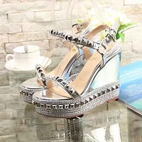 Christian Louboutin CL Fashion Women's Casual Running Sport Shoes Sneakers Slipper Sandals High Heels Shoes