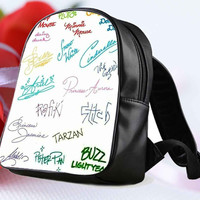 Disney all character signature fcf81e70-a044-4478-8fd8-5aac85bcb1a9 for Backpack / Custom Bag / School Bag / Children Bag / Custom School Bag **