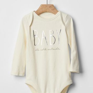 Gap Organic Graphic Bodysuit