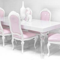 www.roomservicestore.com - Bel Air Lucite Leg Dining Table