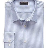 Factory Tailored Slim Fit Non Iron Double Stripe Shirt
