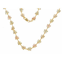 1-1604-D1 Multicolor Butterfly Necklace