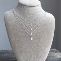 Moon Phases Layered Necklace