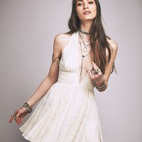 Free People Candy's Plunging V Mini Dress