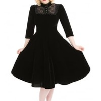 H&R LONDON NIGHTSHADE VELVET DRESS