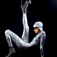 The Original Joysuit: Silver Holographic Bodysuit From Mars, Delivered Straight to Your Earth Home