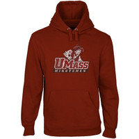 UMass Minutemen Distressed Primary Pullover Hoodie - Cardinal