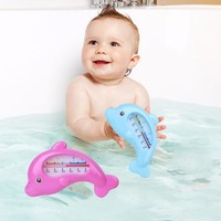 2018 HOT Water Thermometer Baby Bathing Dolphin Shape Temperature Infants Toddler Shower