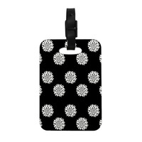 "Suzanne Carter ""Peony Rose"" Black White Decorative Luggage Tag"