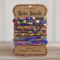 Red,  Zigzag  &  Multicolor  Boho  Bands  From  Natural  Life